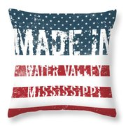 Made In Water Valley, Mississippi Throw Pillow