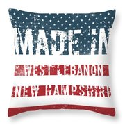 Made In West Lebanon, New Hampshire Throw Pillow