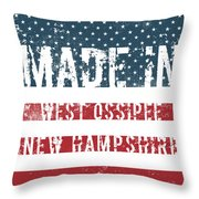 Made In West Ossipee, New Hampshire Throw Pillow