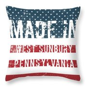 Made In West Sunbury, Pennsylvania Throw Pillow