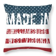 Made In Williamsburg, West Virginia Throw Pillow