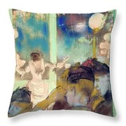 Mademoiselle Becat At The Cafe Des Ambassadeurs  Throw Pillow