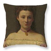 Mademoiselle De Fitz-james Throw Pillow
