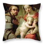 Madonna And Child Throw Pillow by Gaetano Gandolfi