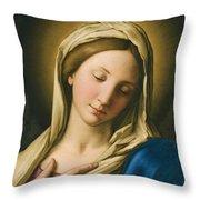 Madonna At Prayer Throw Pillow