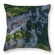 Madonna Della Corona - Italy Throw Pillow