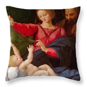 Madonna Of Loreto Throw Pillow