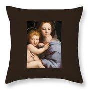 Madonna Of The Candelabra Throw Pillow