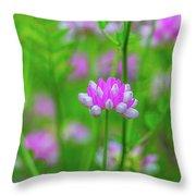 Magenta Wildflower Throw Pillow