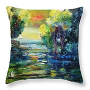 Magic Pond  Throw Pillow