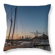 Magic Sky In Baltimore Throw Pillow