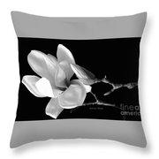 Magnolia In Monochrome Throw Pillow