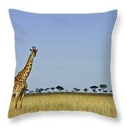 Majestic Giraffe Throw Pillow