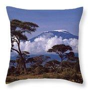 Majestic Mount Kilimanjaro Throw Pillow