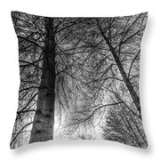 Majestic Trees Throw Pillow