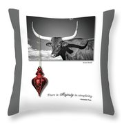 Majesty In Simplicity Throw Pillow by Lou Novick