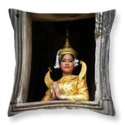 Makala Dancer In Cambodia Throw Pillow