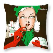 Making A List And Checking It Twice Throw Pillow