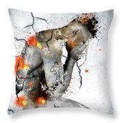 Male Nude  Throw Pillow