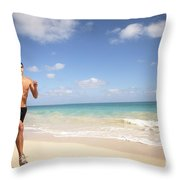 Male Runner Throw Pillow by Sri Maiava Rusden - Printscapes
