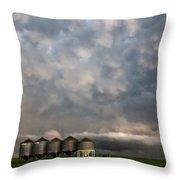 Mammatus Storm Clouds Throw Pillow