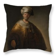 Man In Oriental Costume The Noble Slav Throw Pillow