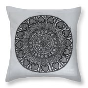 Mandal2 Throw Pillow