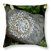 Mandala Stone  Throw Pillow