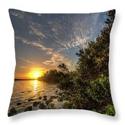 Mangrove Sunrise Throw Pillow