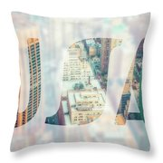 Manhattan Skyline At Sunset, New York City  Throw Pillow