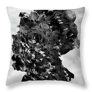 Map Of Germany-black Throw Pillow