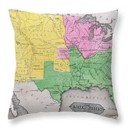 Map Of The United States Throw Pillow