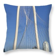 Margaret Hunt Hill Bridge In Dallas - Texas Throw Pillow
