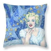 Marilyn Monroe, Old Hollywood Series Throw Pillow