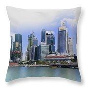 Marina Bay Singapore Throw Pillow
