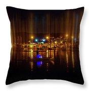 Marine At Night Throw Pillow