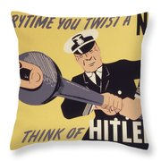 Marine Corps Recruiting Poster From World War Throw Pillow