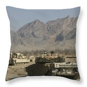 Marines Conduct Combat Operations Throw Pillow