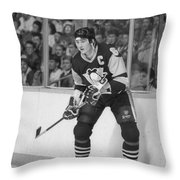 Mario Lemieux Throw Pillow