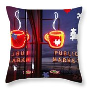 Market Cup Throw Pillow