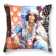 Market, Goa Throw Pillow
