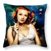 Marlene Dietrich, Vintage Actress Throw Pillow