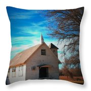 Marsh Berea Church Throw Pillow