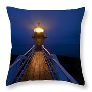 Marshall Point Light Station Throw Pillow