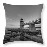 Marshall Point Lighthouse Reflections Throw Pillow