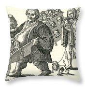 Martin Luther (1483-1546) Throw Pillow