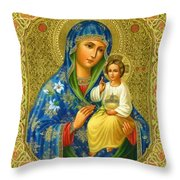 Mary Saint Religious Art Throw Pillow