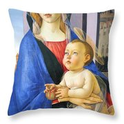 Mary With Baby Jesus Throw Pillow