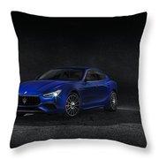 Maserati Ghibli Throw Pillow