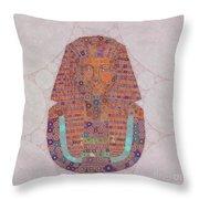 Mask Of Tutankhamun, Pop Art By Mb Throw Pillow